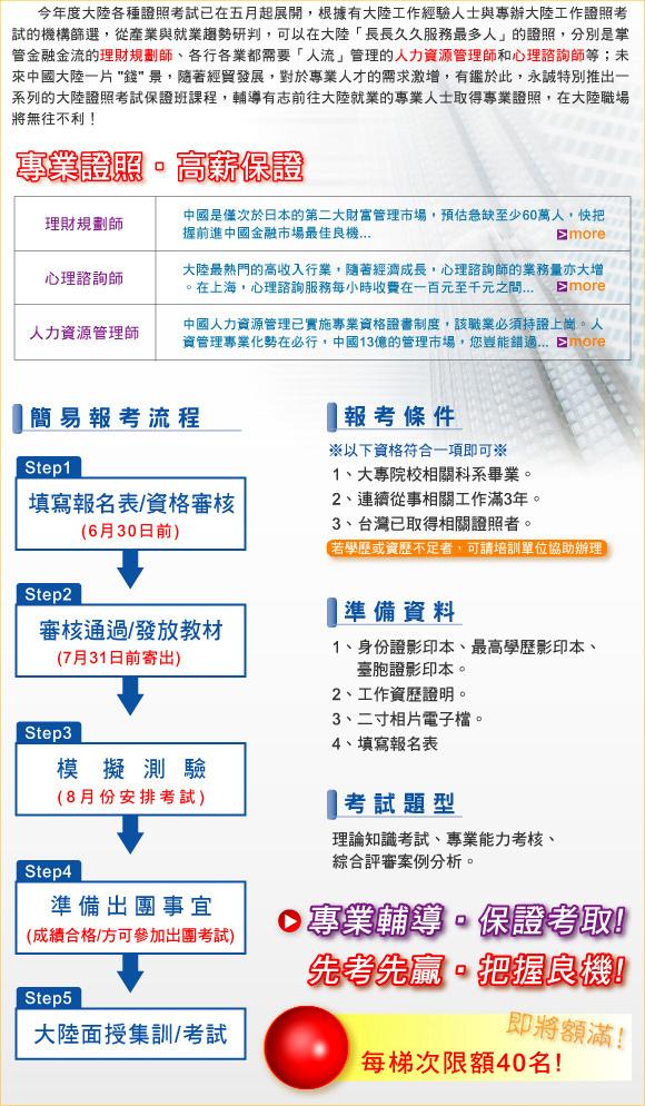 中國大陸證照保證班詳細說明